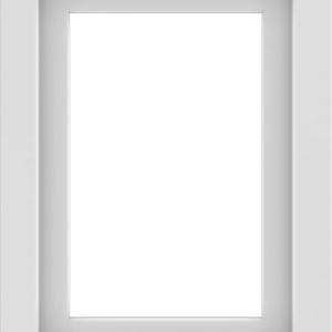 WDMA 18x24 (17.5 x 23.5 inch) Vinyl uPVC White Picture Window without Grids-1