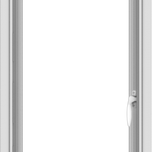 WDMA 18x30 (17.5 x 29.5 inch) Vinyl uPVC White Push out Casement Window without Grids Interior