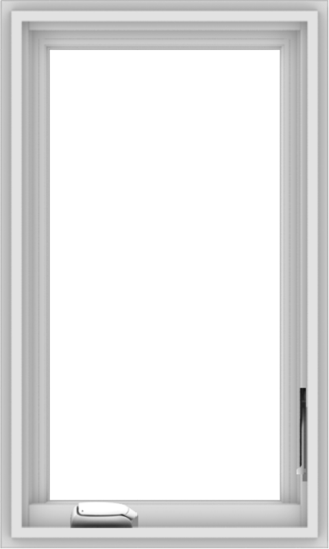 WDMA 18x30 (17.5 x 29.5 inch) White Vinyl uPVC Crank out Casement Window without Grids Interior