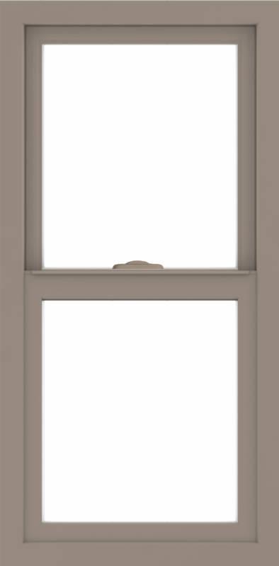 WDMA 18x36 (17.5 x 35.5 inch) Vinyl uPVC Brown Single Hung Double Hung Window without Grids Interior