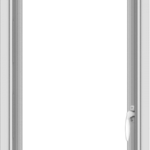 WDMA 18x40 (17.5 x 39.5 inch) Vinyl uPVC White Push out Casement Window without Grids Interior
