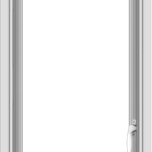 WDMA 18x48 (17.5 x 47.5 inch) uPVC Vinyl White push out Casement Window without Grids Interior
