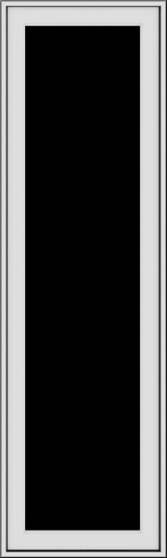 WDMA 18x60 (17.5 x 59.5 inch) White Vinyl uPVC Push out Casement Window without Grids Exterior