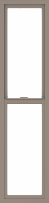 WDMA 18x72 (17.5 x 71.5 inch) Vinyl uPVC Brown Single Hung Double Hung Window without Grids Interior