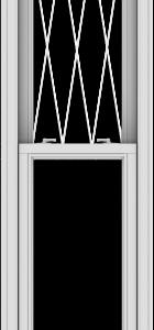 WDMA 20x114 (19.5 x 113.5 inch)  Aluminum Single Double Hung Window with Diamond Grids
