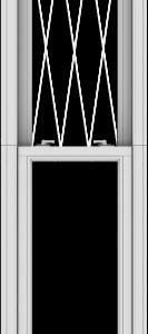 WDMA 20x120 (19.5 x 119.5 inch)  Aluminum Single Double Hung Window with Diamond Grids