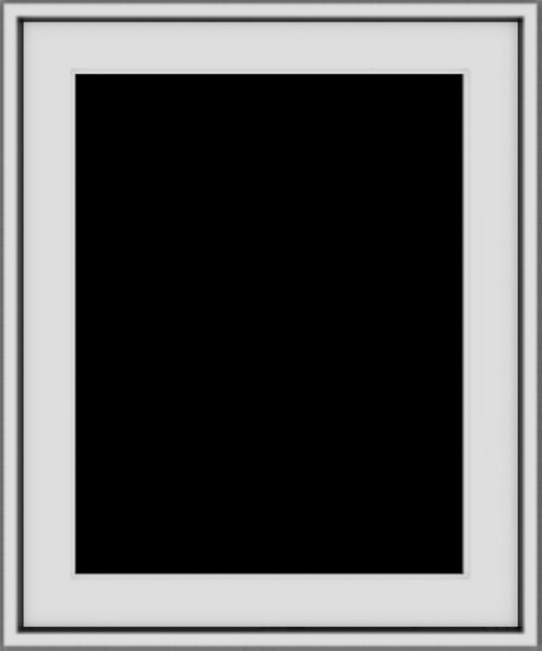 WDMA 20x24 (19.5 x 23.5 inch) Vinyl uPVC White Push out Casement Window without Grids Exterior