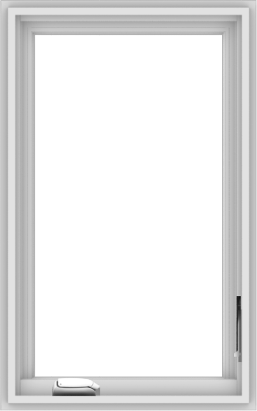 WDMA 20x32 (19.5 x 31.5 inch) White Vinyl uPVC Crank out Casement Window without Grids Interior