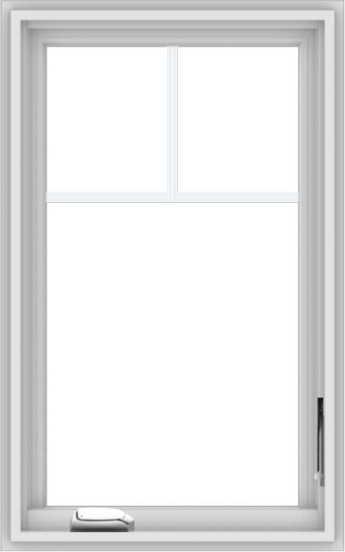 WDMA 20x32 (19.5 x 31.5 inch) White Vinyl uPVC Crank out Casement Window with Fractional Grilles