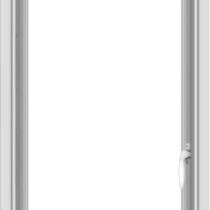 WDMA 20x40 (19.5 x 39.5 inch) Vinyl uPVC White Push out Casement Window without Grids Interior