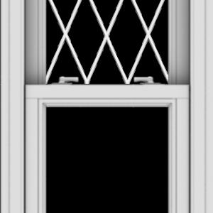 WDMA 20x48 (19.5 x 47.5 inch)  Aluminum Single Double Hung Window with Diamond Grids