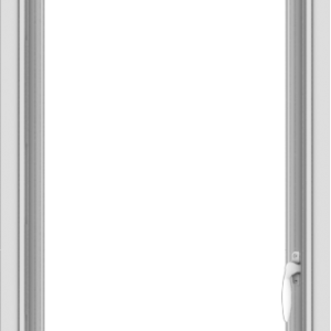 WDMA 20x48 (19.5 x 47.5 inch) uPVC Vinyl White push out Casement Window without Grids Interior
