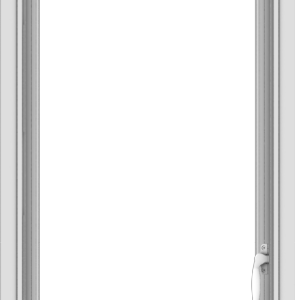 WDMA 20x54 (19.5 x 53.5 inch) uPVC Vinyl White push out Casement Window without Grids Interior