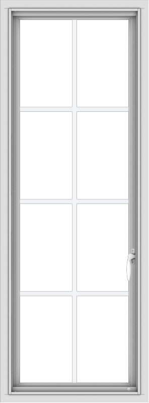 WDMA 20x54 (19.5 x 53.5 inch) uPVC Vinyl White push out Casement Window with Colonial Grids