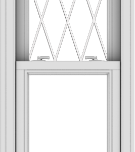 WDMA 20x60 (19.5 x 59.5 inch)  Aluminum Single Double Hung Window with Diamond Grids