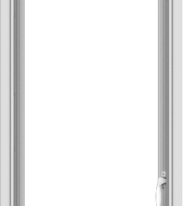 WDMA 20x60 (19.5 x 59.5 inch) White Vinyl uPVC Push out Casement Window without Grids Interior