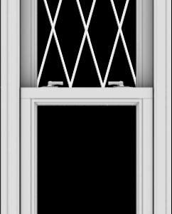WDMA 20x66 (19.5 x 65.5 inch)  Aluminum Single Double Hung Window with Diamond Grids