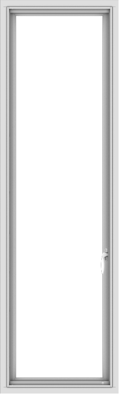 WDMA 20x66 (19.5 x 65.5 inch) White Vinyl uPVC Push out Casement Window without Grids Interior