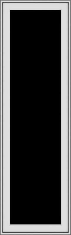 WDMA 20x66 (19.5 x 65.5 inch) White Vinyl uPVC Push out Casement Window without Grids Exterior