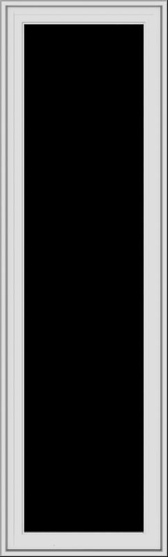 WDMA 20x66 (19.5 x 65.5 inch) White Vinyl uPVC Crank out Casement Window without Grids Exterior