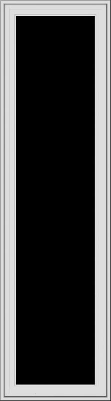WDMA 20x72 (19.5 x 71.5 inch) White Vinyl uPVC Crank out Casement Window without Grids Exterior