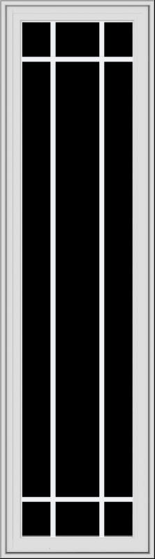 WDMA 20x72 (19.5 x 71.5 inch) White Vinyl uPVC Crank out Casement Window with Prairie Grilles