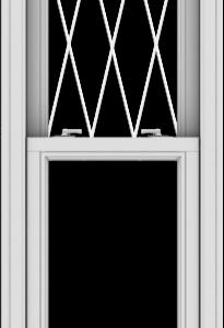 WDMA 20x78 (19.5 x 77.5 inch)  Aluminum Single Double Hung Window with Diamond Grids