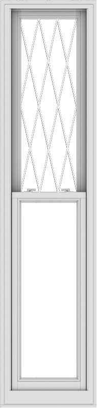WDMA 20x84 (19.5 x 83.5 inch)  Aluminum Single Double Hung Window with Diamond Grids