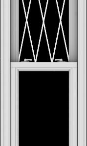 WDMA 20x90 (19.5 x 89.5 inch)  Aluminum Single Double Hung Window with Diamond Grids