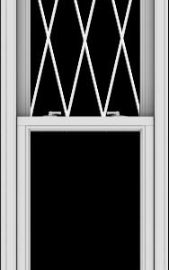 WDMA 24x102 (23.5 x 101.5 inch)  Aluminum Single Double Hung Window with Diamond Grids