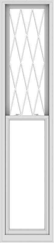 WDMA 24x108 (23.5 x 107.5 inch)  Aluminum Single Double Hung Window with Diamond Grids