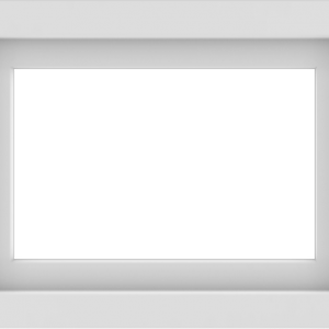 WDMA 24x18 (23.5 x 17.5 inch) Vinyl uPVC White Picture Window without Grids-1