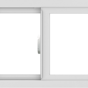 WDMA 24x18 (23.5 x 17.5 inch) Vinyl uPVC White Slide Window without Grids Interior