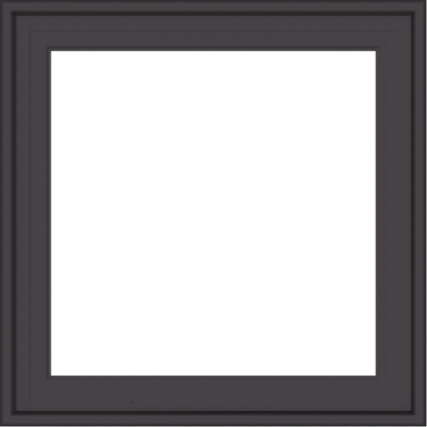 WDMA 24x24 (23.5 x 23.5 inch) Pine Wood Dark Grey Aluminum Crank out Casement Window without Grids Exterior