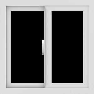 WDMA 24x24 (23.5 x 23.5 inch) Vinyl uPVC White Slide Window without Grids Interior