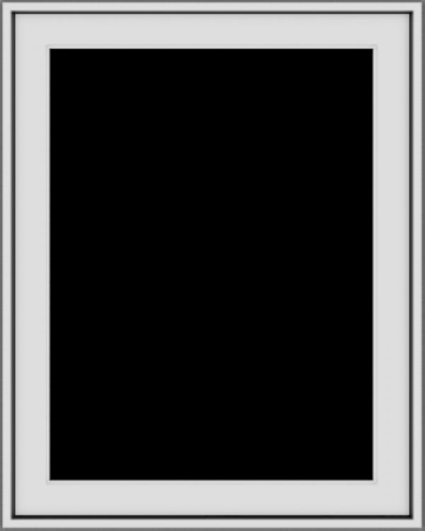 WDMA 24x30 (23.5 x 29.5 inch) Vinyl uPVC White Push out Casement Window without Grids Exterior