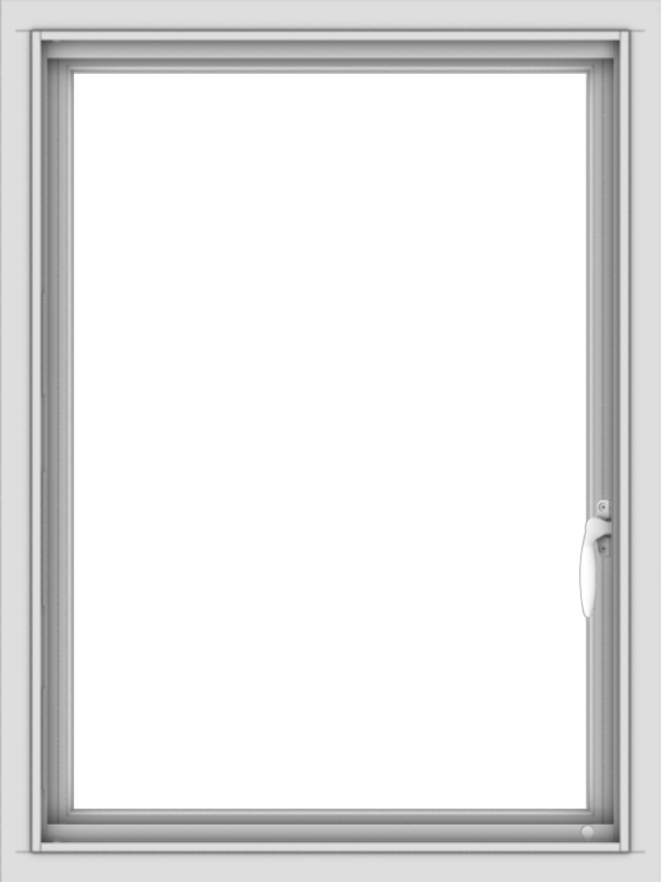 WDMA 24x32 (23.5 x 31.5 inch) Vinyl uPVC White Push out Casement Window without Grids Interior