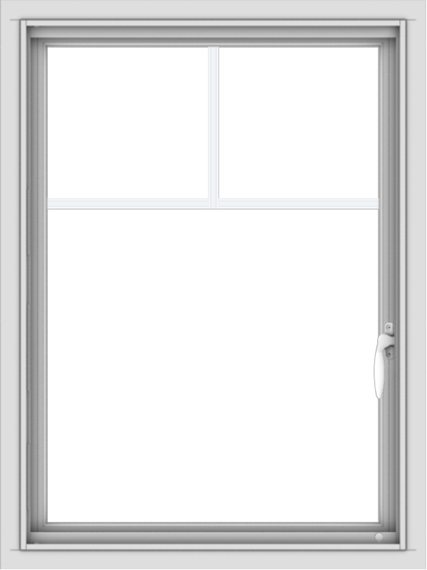 WDMA 24x32 (23.5 x 31.5 inch) Vinyl uPVC White Push out Casement Window with Fractional Grilles