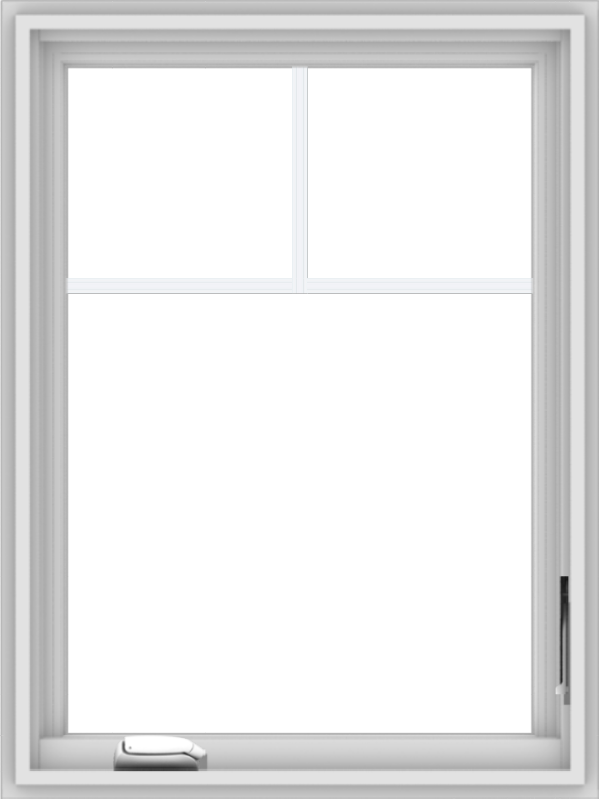 WDMA 24x32 (23.5 x 31.5 inch) White Vinyl uPVC Crank out Casement Window with Fractional Grilles