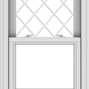 WDMA 24x36 (23.5 x 35.5 inch)  Aluminum Single Double Hung Window with Diamond Grids