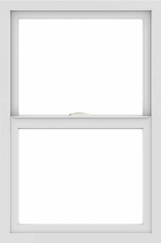 WDMA 24x36 (23.5 x 35.5 inch) Vinyl uPVC White Single Hung Double Hung Window without Grids Interior
