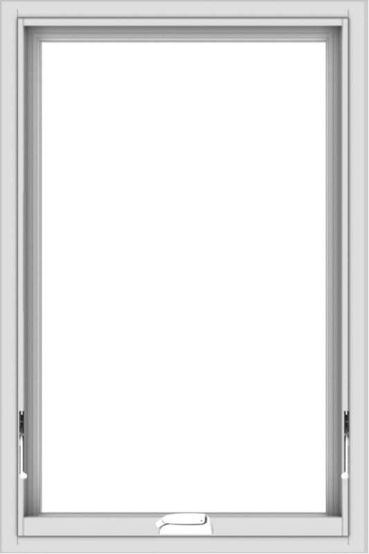 WDMA 24x36 (23.5 x 35.5 inch) White Vinyl uPVC Crank out Awning Window without Grids