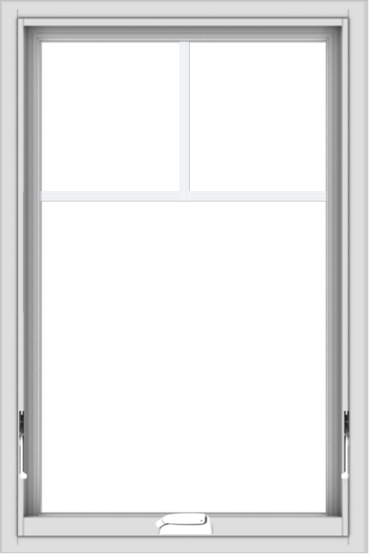 WDMA 24x36 (23.5 x 35.5 inch) White Vinyl uPVC Crank out Awning Window with Fractional Grilles