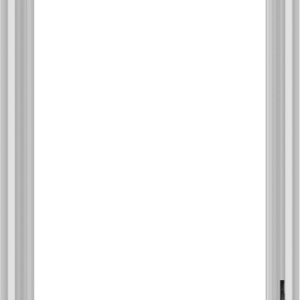 WDMA 24x40 (23.5 x 39.5 inch) White Vinyl uPVC Crank out Casement Window without Grids Interior