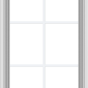 WDMA 24x40 (23.5 x 39.5 inch) White uPVC Vinyl Push out Awning Window with Colonial Grids Interior