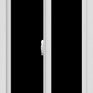 WDMA 24x42 (23.5 x 41.5 inch) Vinyl uPVC White Slide Window without Grids Interior
