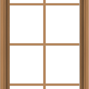 WDMA 24x48 (23.5 x 47.5 inch) Oak Wood Dark Brown Bronze Aluminum Crank out Awning Window with Colonial Grids Interior