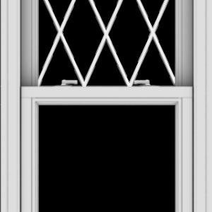 WDMA 24x60 (23.5 x 59.5 inch)  Aluminum Single Double Hung Window with Diamond Grids