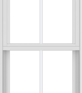WDMA 24x72 (17.5 x 71.5 inch) Vinyl uPVC White Single Hung Double Hung Window with Colonial Grids Exterior