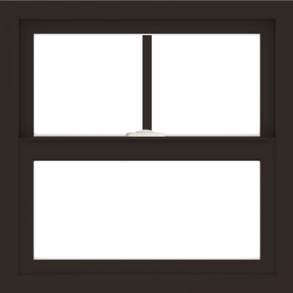 WDMA 24x24 (23.5 x 23.5 inch) Dark Bronze Aluminum Single and Double Hung Window with Fractional Grilles